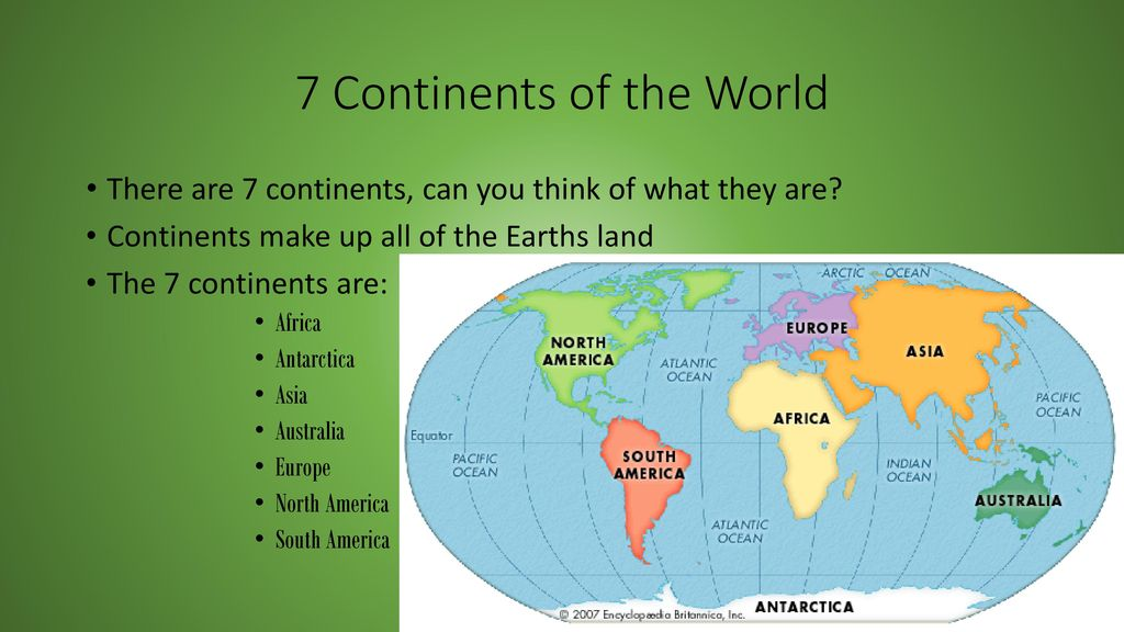 Image of: Continents Oceans Seas Equator And Important Mapping Terms Ppt Download