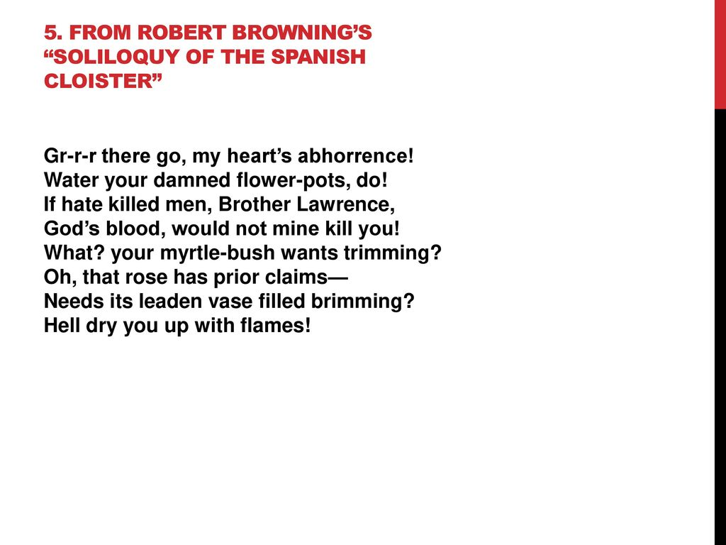 robert browning soliloquy of the spanish cloister