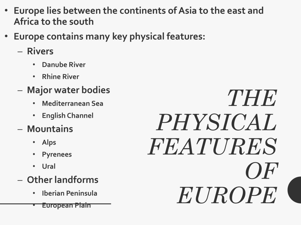 Europe: Physical and human geography - ppt download