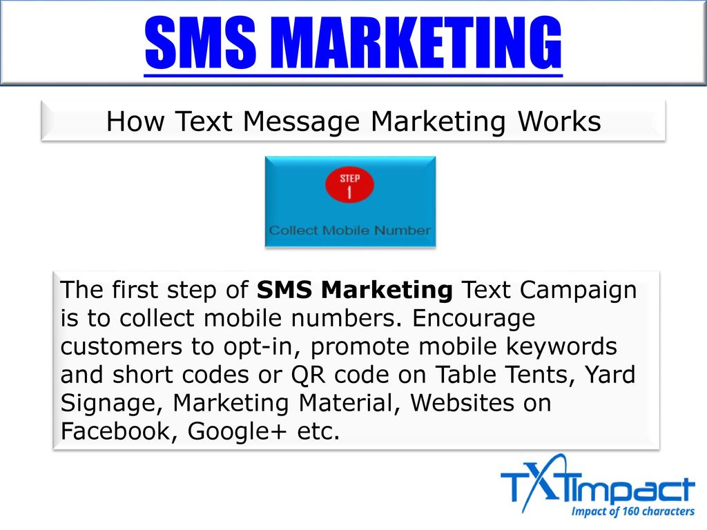 SMS MARKETING  - ppt download