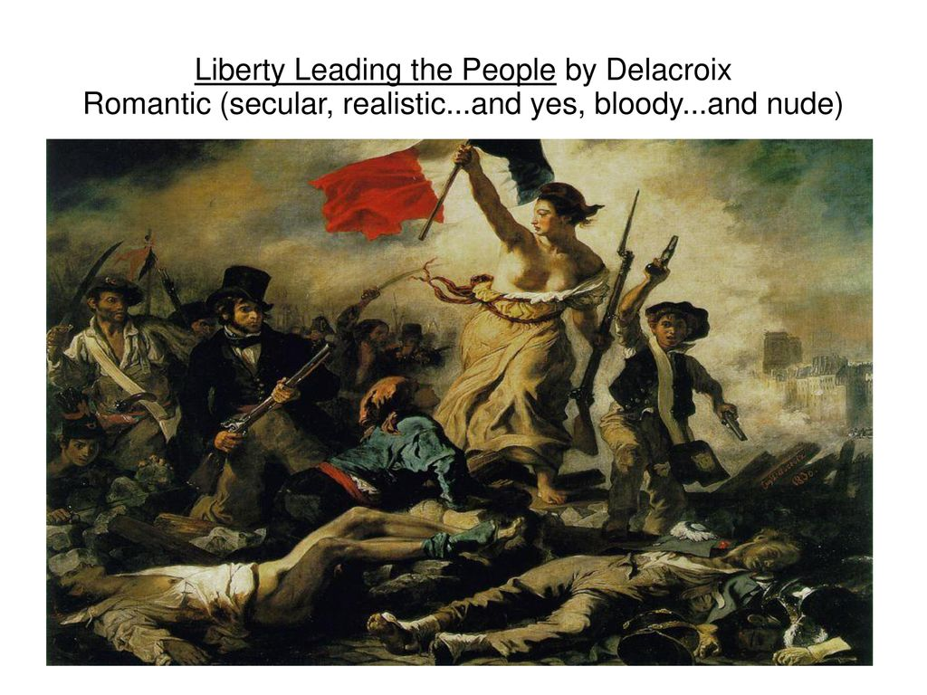 Liberty Leading The People By Delacroix Romantic Secular
