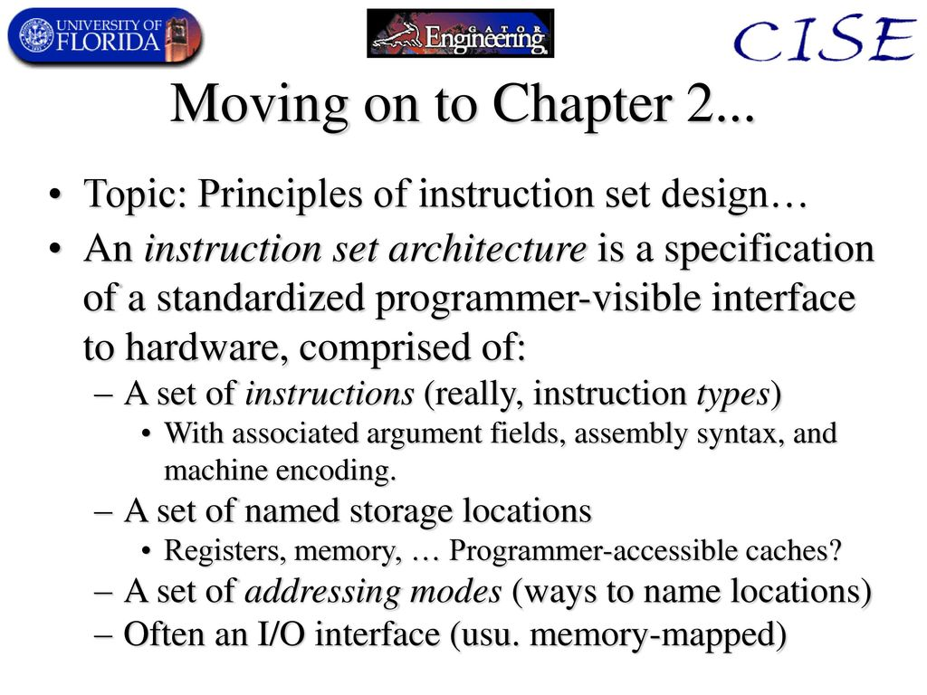 Computer Architecture Principles Dr Mike Frank Ppt Download