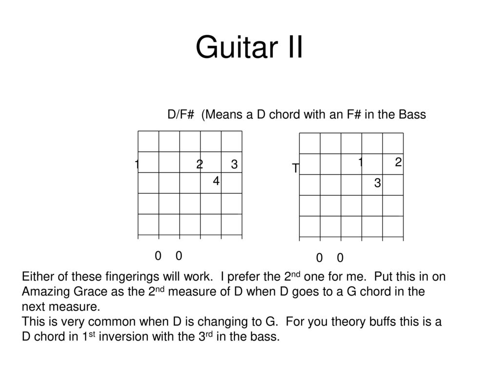 Guitar I & II Class 4 Will do D7 and E7 for this class but
