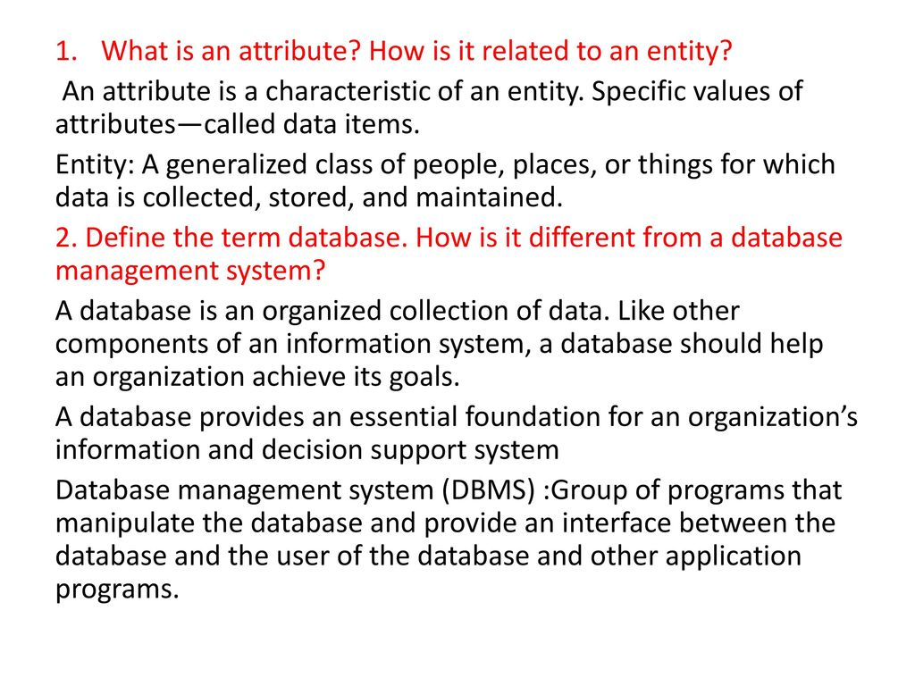 What is an attribute? 16