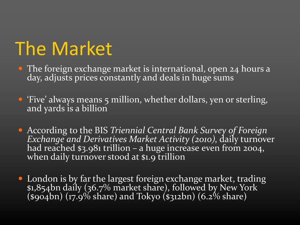 The Market Foreign Exchange Is International Open 24 Hours A Day Adjusts