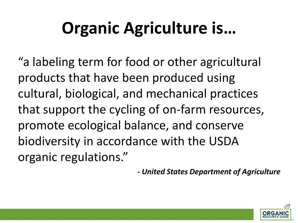 Organic Agriculture  - ppt download