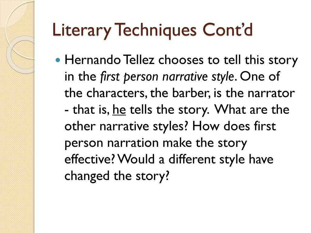 narrative styles in literature