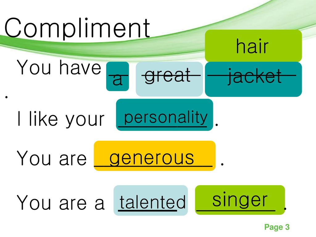 Compliments  - ppt download