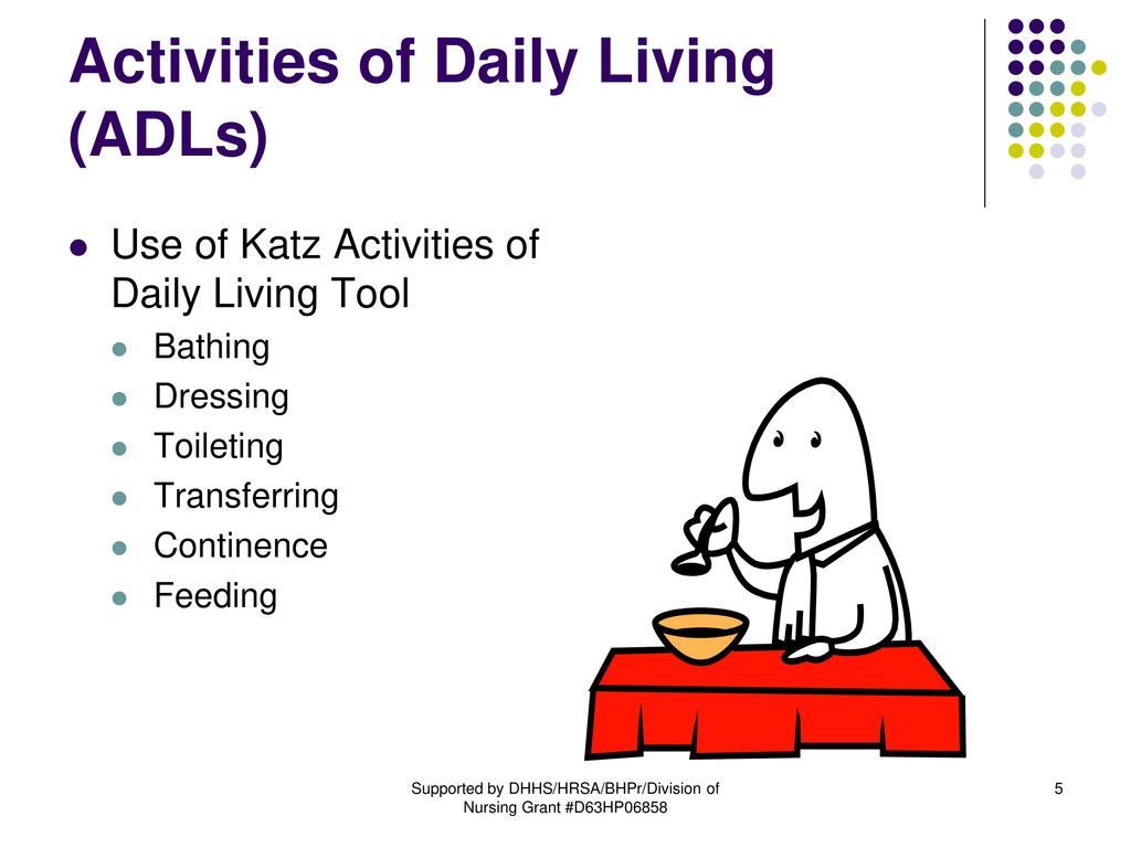 5 Activities Of Daily Living