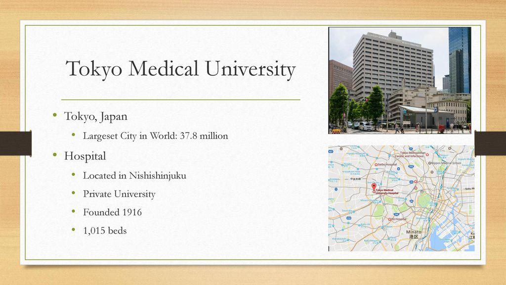 Tokyo Medical University - ppt download