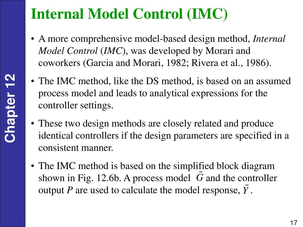 Controller Tuning A Motivational Example Ppt Download P Block Diagram Internal Model Control Imc