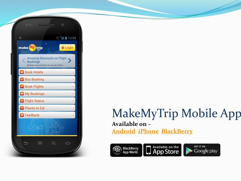 Use Make My Trip App To Organize Trip Online - ppt download
