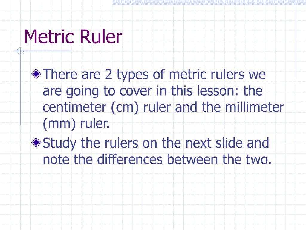 metric measurement lesson - ppt download