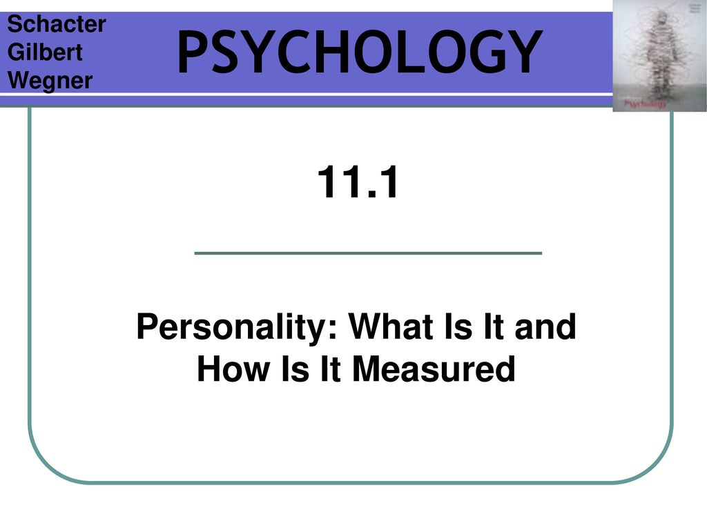Personality - what is it 1