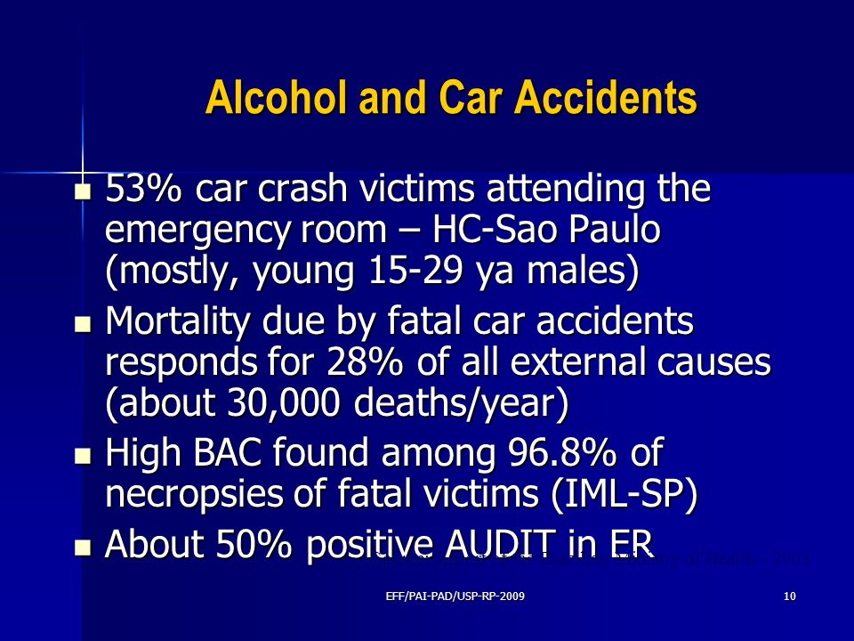 Alcohol and Car Accidents