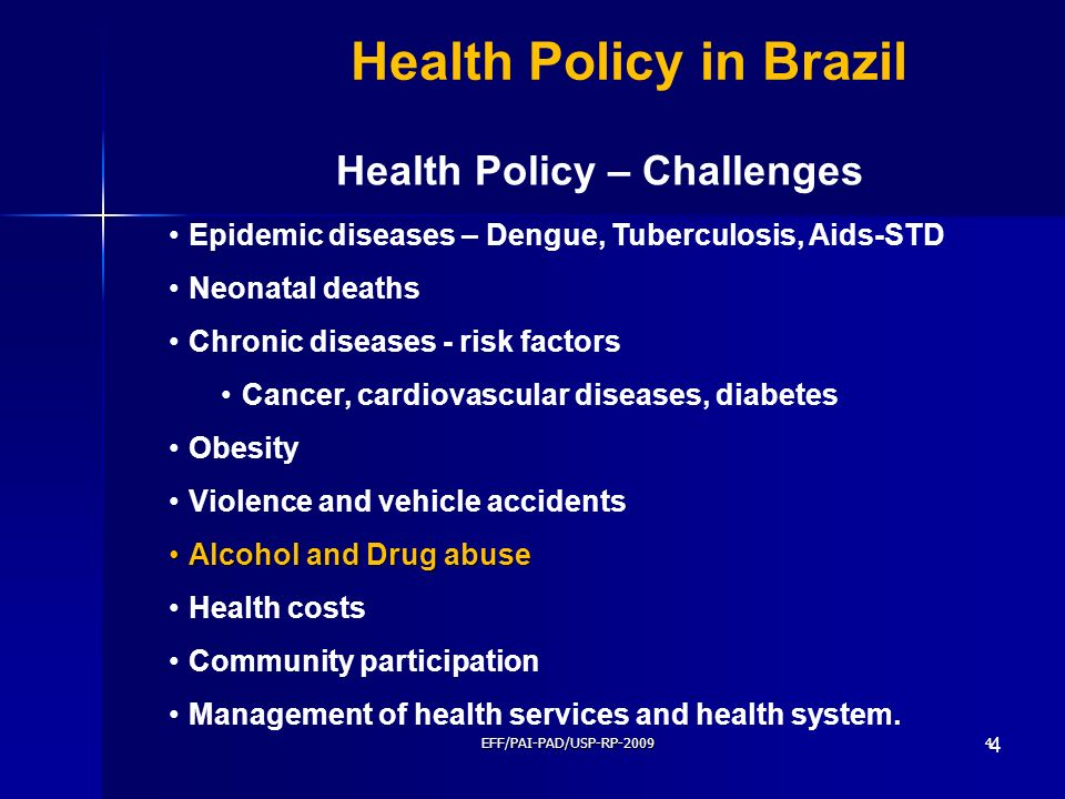 Health Policy – Challenges