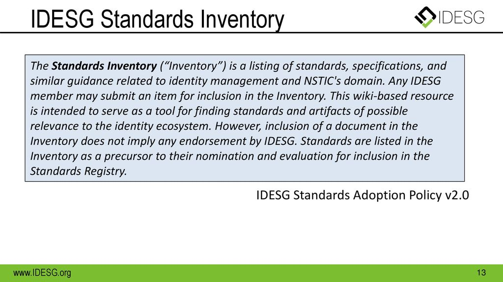 IDESG Standards Inventory