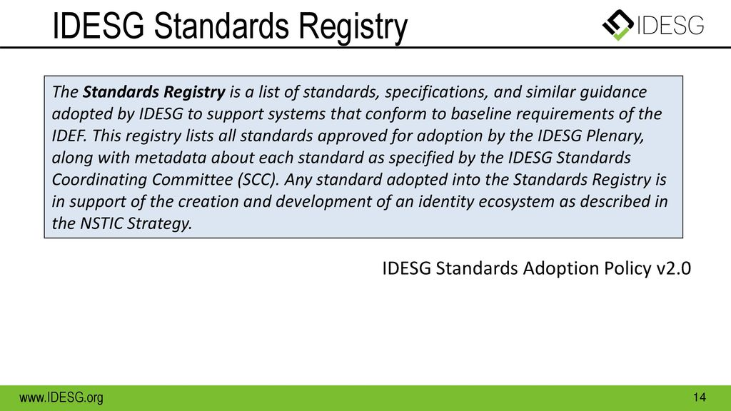 IDESG Standards Registry