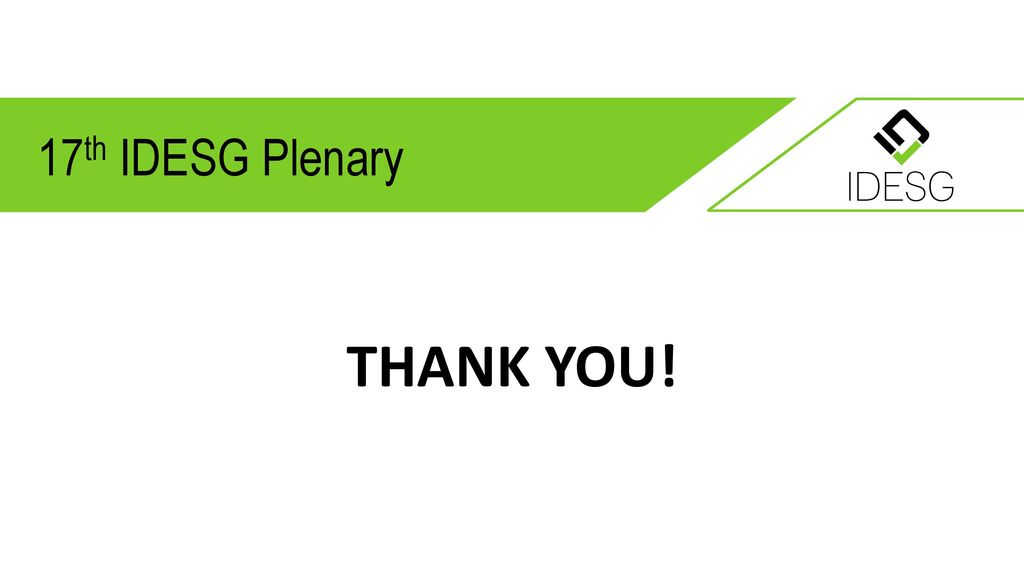 17th IDESG Plenary THANK YOU!