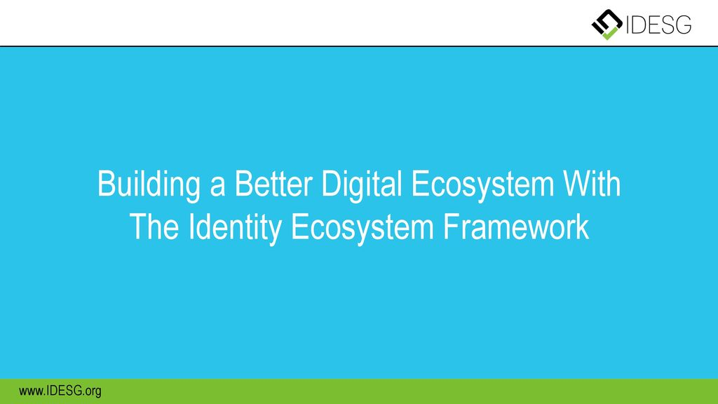 Building a Better Digital Ecosystem With The Identity Ecosystem Framework