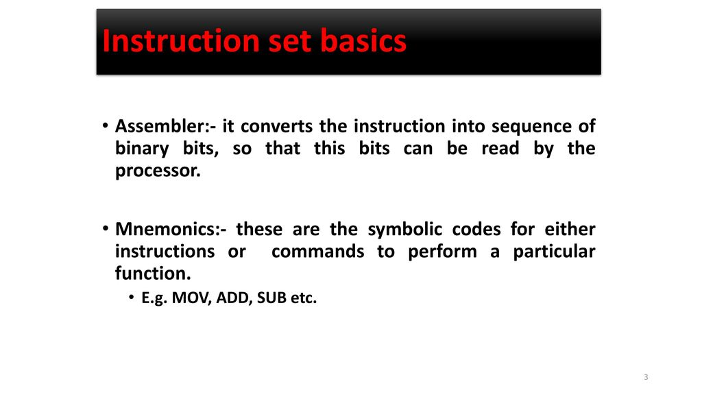 Instruction Set Of 8086 Microprocessor Ppt Download