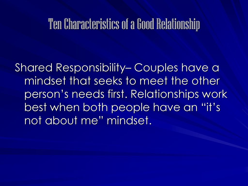 characteristics of a good relationship