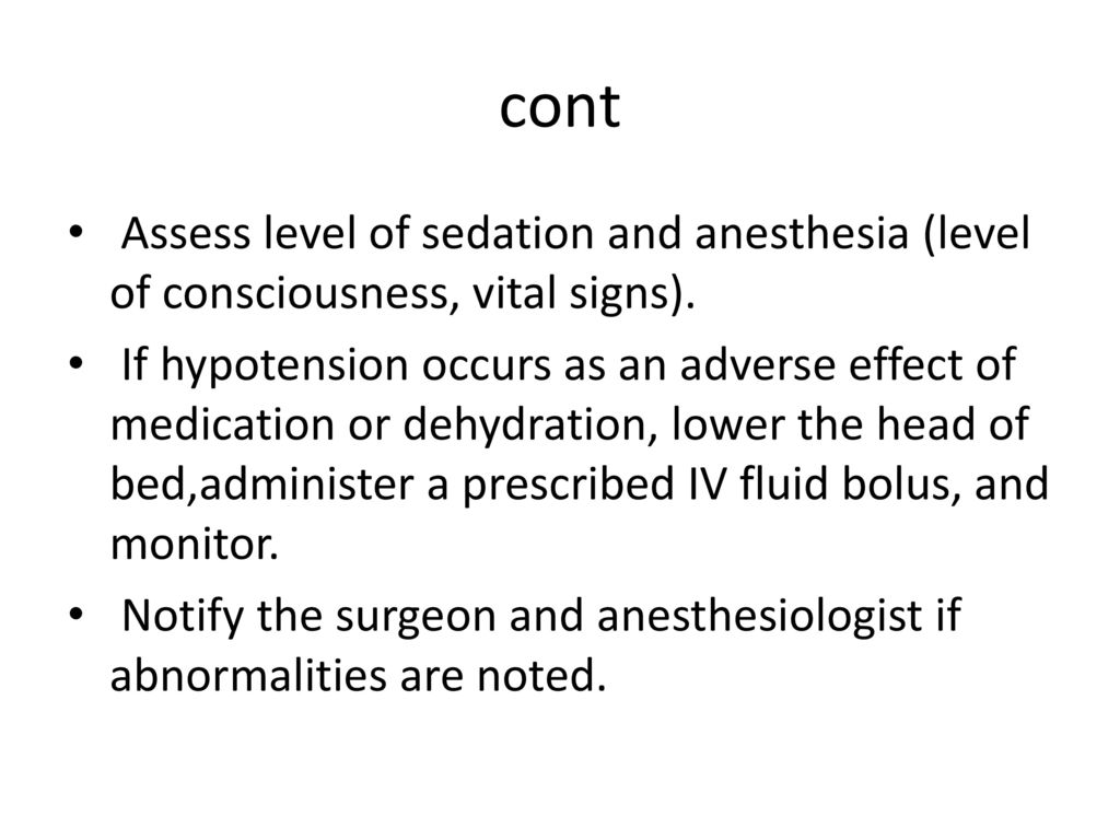 Anesthesia and Moderate Sedation - ppt download