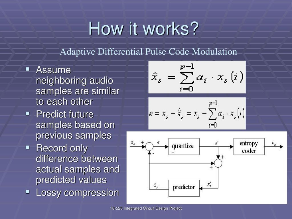 Adpcm Adaptive Differential Pulse Code Modulation Ppt Download Audio Compressor Schematic 3 How