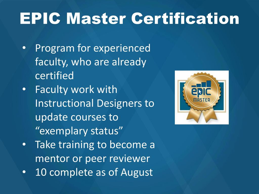 Epic Certified Instructional Designer Address Db