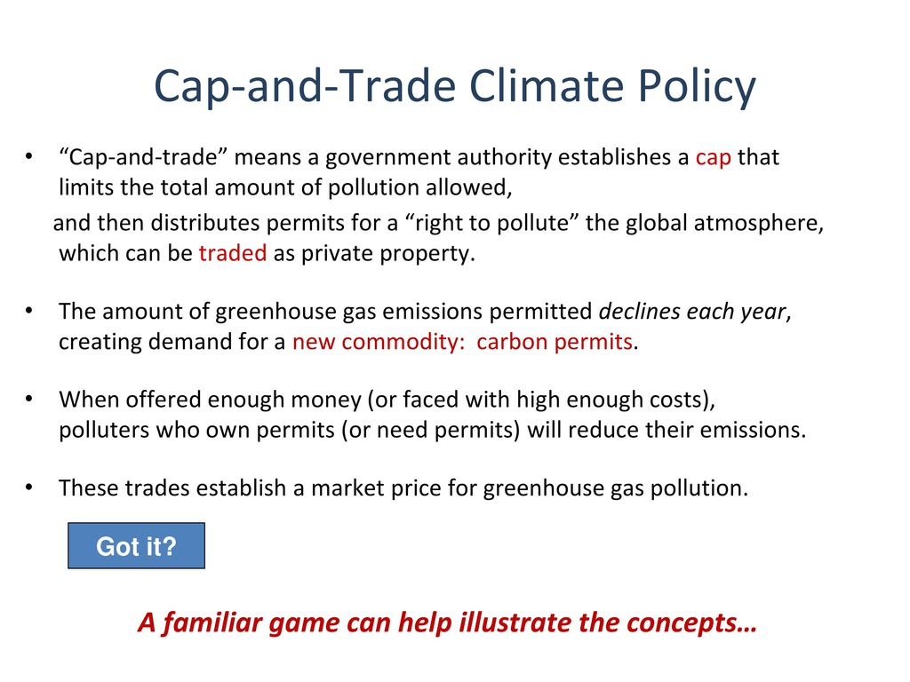 an introduction to cap-and-trade climate policy - ppt download