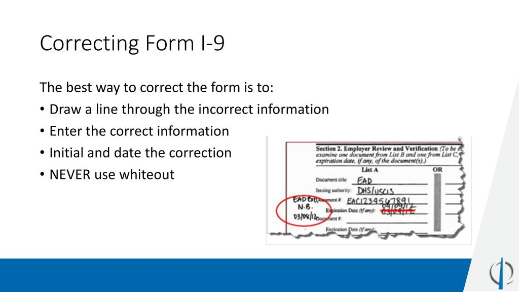form i-9 corrections  Understanding I-14 Compliance - ppt download