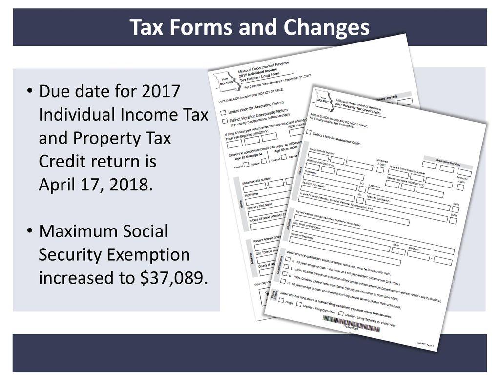 2017 Mu Tax School Columbia October 27 Springfield Nov 1 Ppt