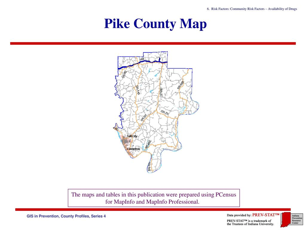 Pike County Indiana Map.Indiana Prevention Resource Center Gis In Prevention County Profiles