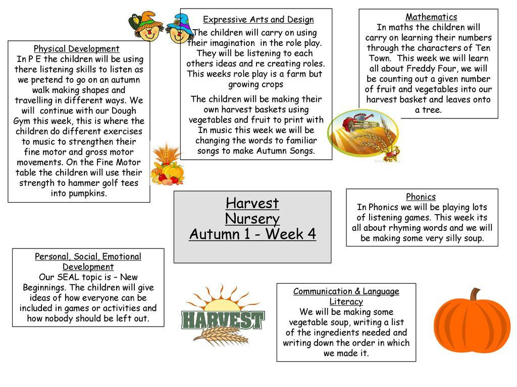 Harvest Nursery Autumn 1 Week 4 Mathematics