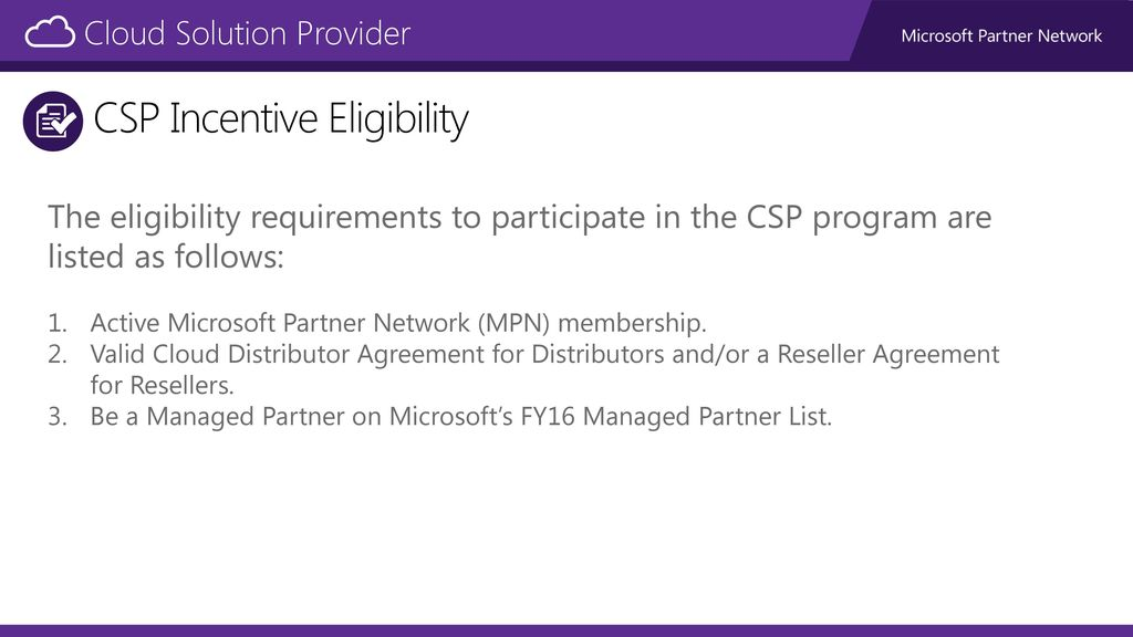 Partner Incentives Cloud Solution Provider Ppt Download