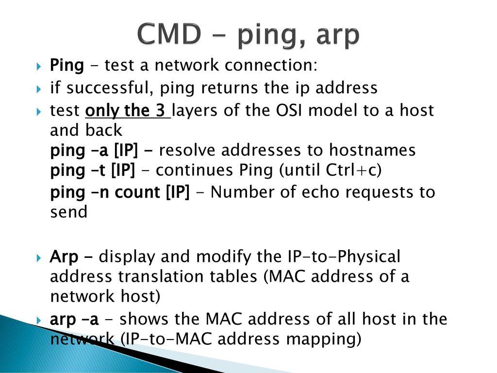 Cmd Ping Test