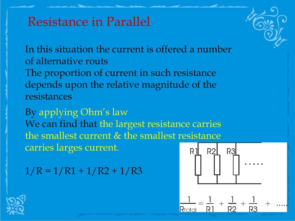 Direct Current Electricity Ppt Download The Actual Rheostat I Used Is Wired As In This Picture 13 Resistance Parallel