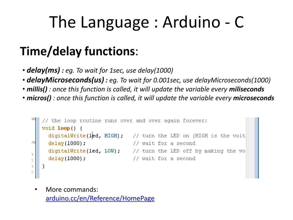 Arduino Part 1 Topics: Microcontrollers Programming Basics - ppt