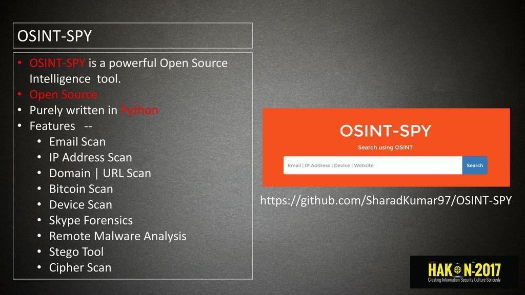 OSINT Sharad - ppt download