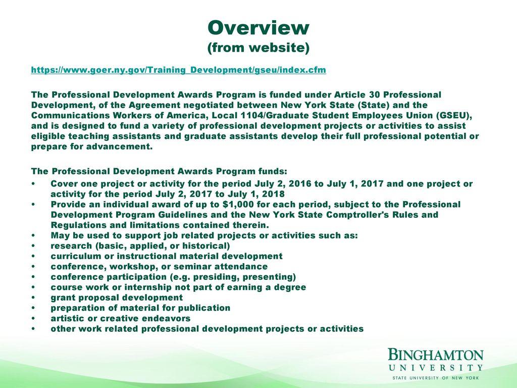 Graduate Student Employees' Union Professional Development