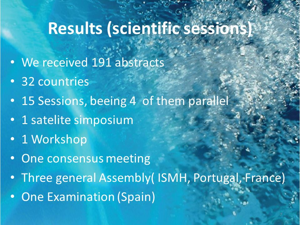 Results (scientific sessions)