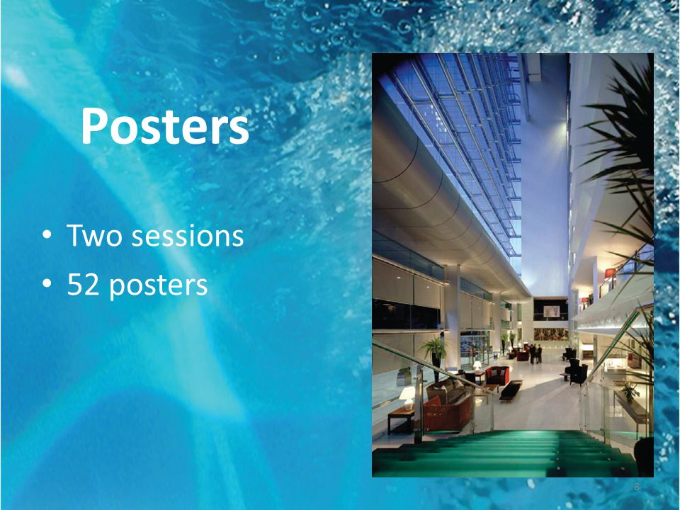 Posters Two sessions 52 posters