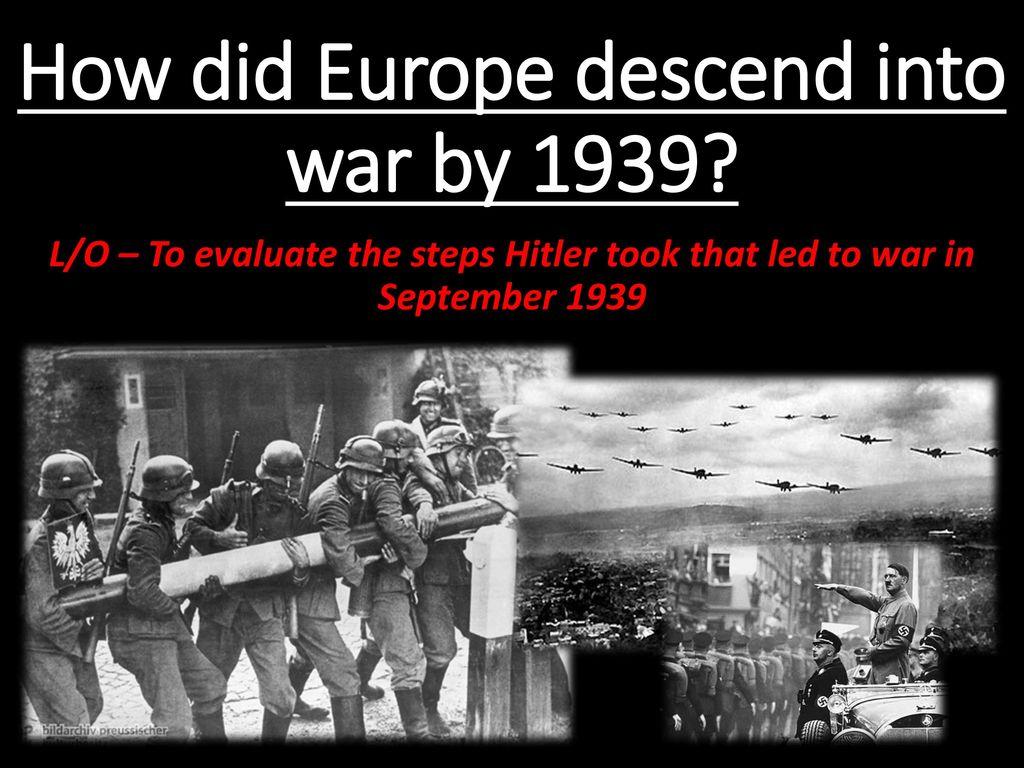 outbreak of war, 22nd August - 3rd September 1939.