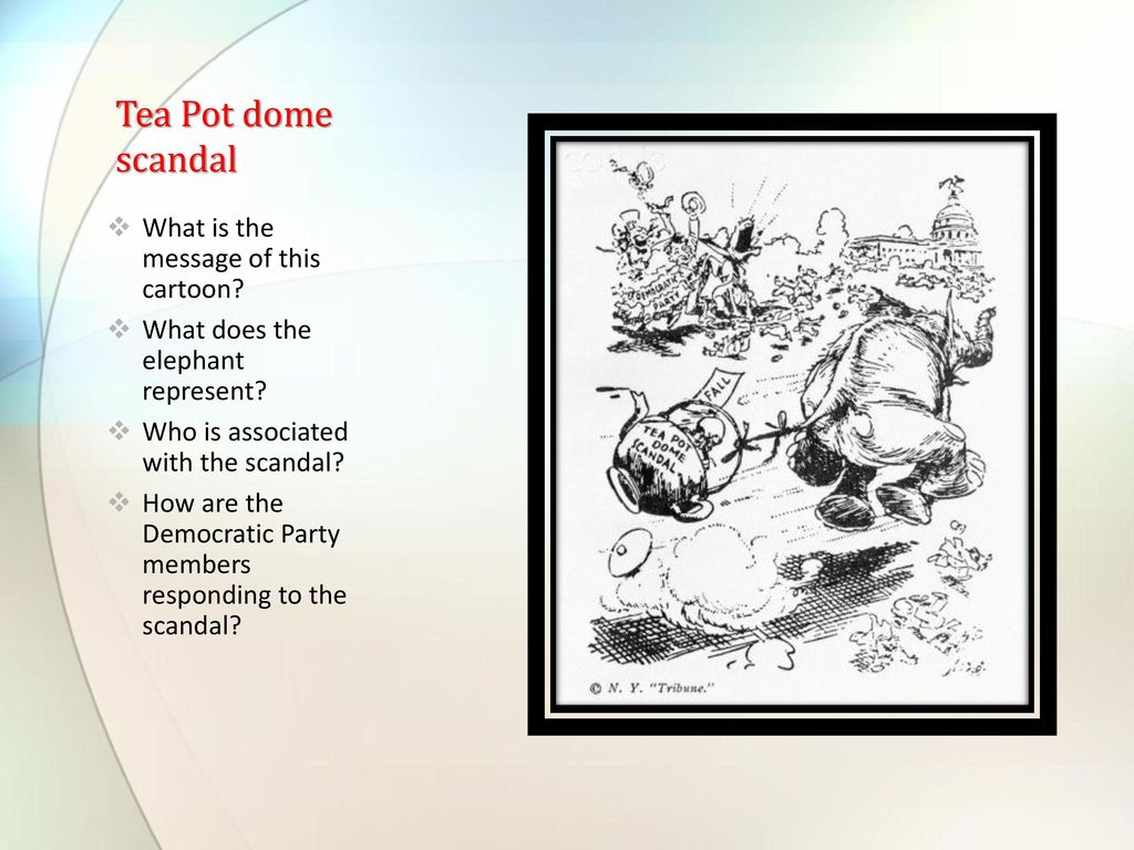 Teapot Dome Scandal Political Cartoon Www Topsimages Com
