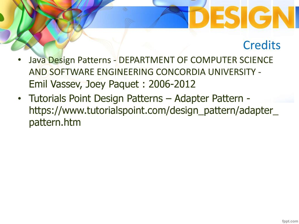 Tutorialspoint Design Patterns Awesome Ideas