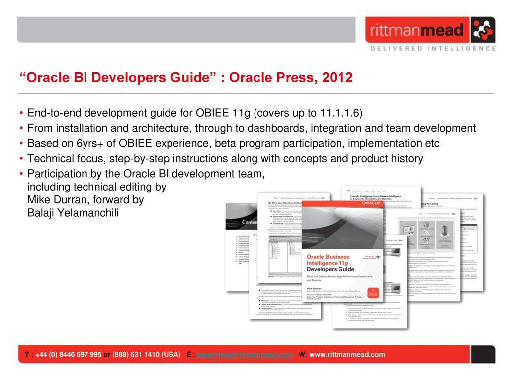 Introduction to Oracle Business Intelligence - ppt download