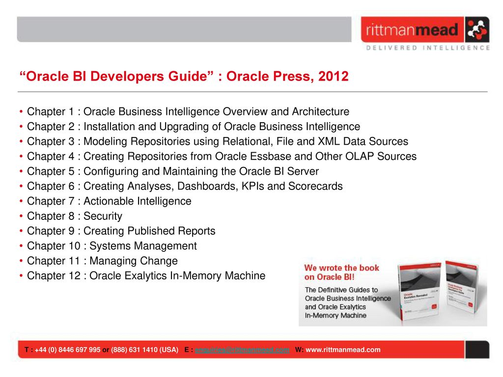 introduction to oracle business intelligence ppt download rh slideplayer com Prompts OBIEE 11G OBIEE 11G Tutorials