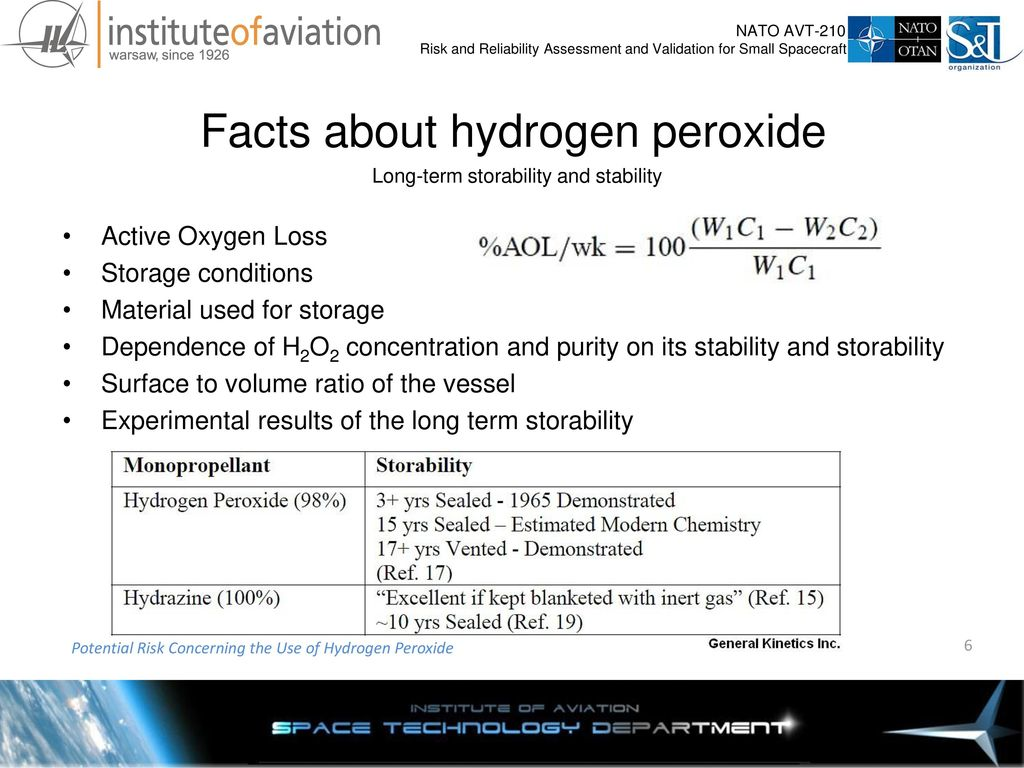 Potential Risk Concerning the Use of Hydrogen Peroxide - ppt