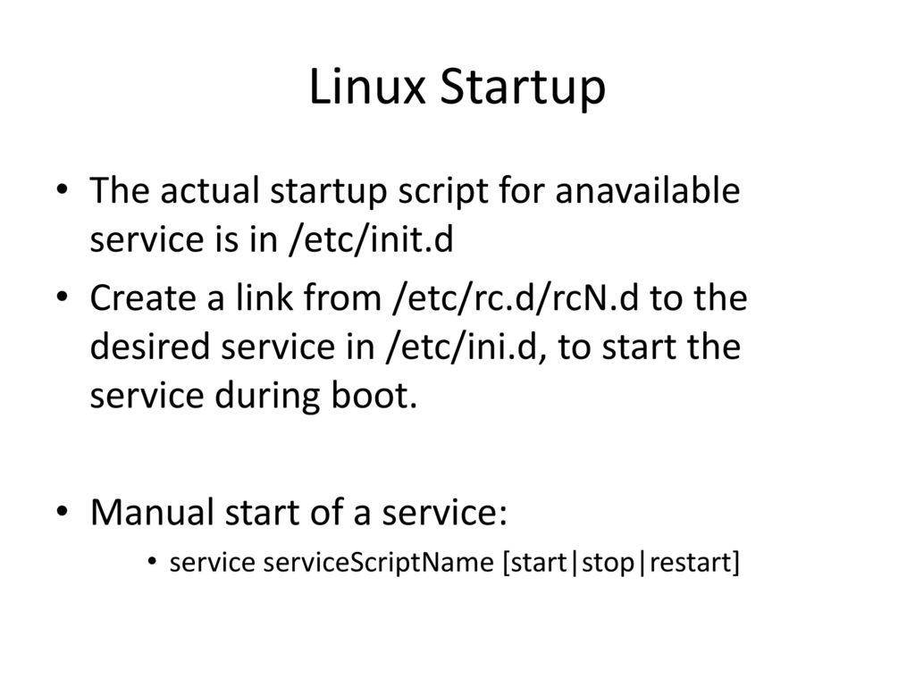 Linux Start Sequence Summary - ppt download