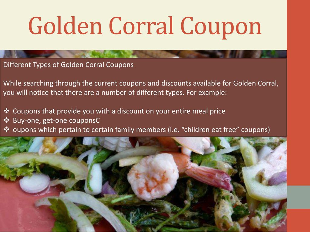 photograph about Golden Corral Coupons Buy One Get One Free Printable known as Golden Corral Rates. - ppt down load